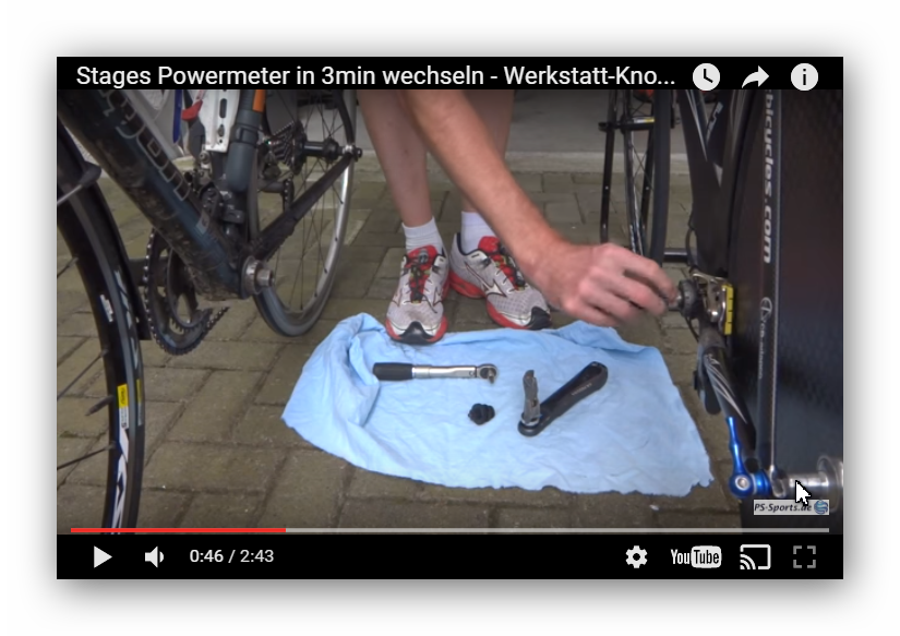 Stages Powermeter wechseln