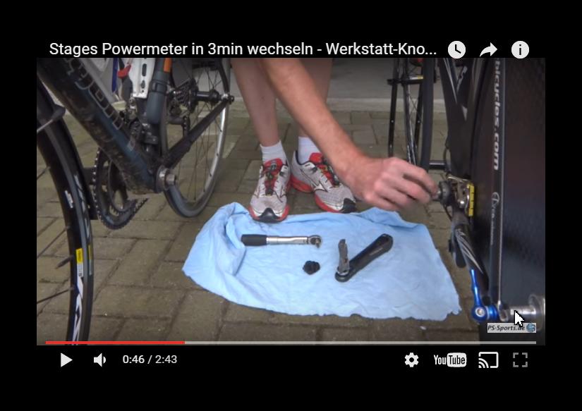 Stages Powermeter wechseln