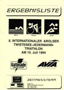 Jedermantriathlon Twistesee 1994