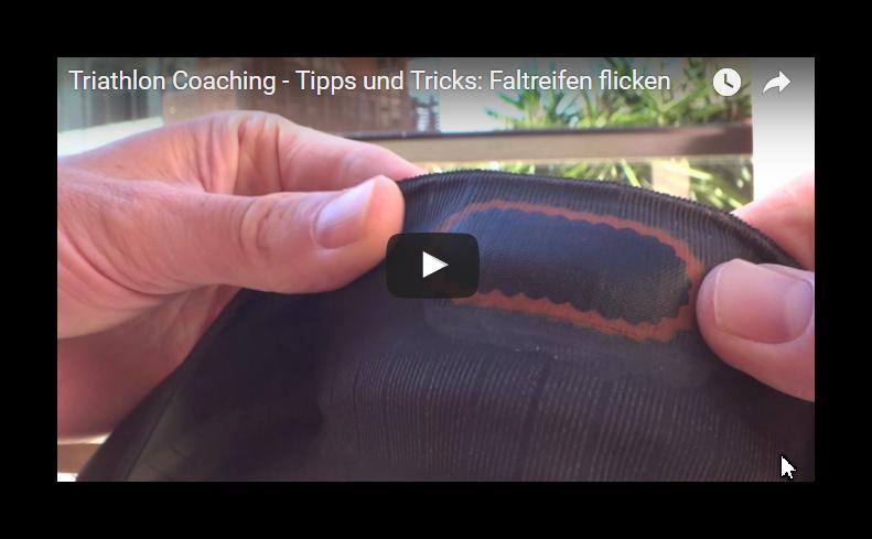 Triathlon Coaching Tipps und Tricks - Faltreifen reparieren