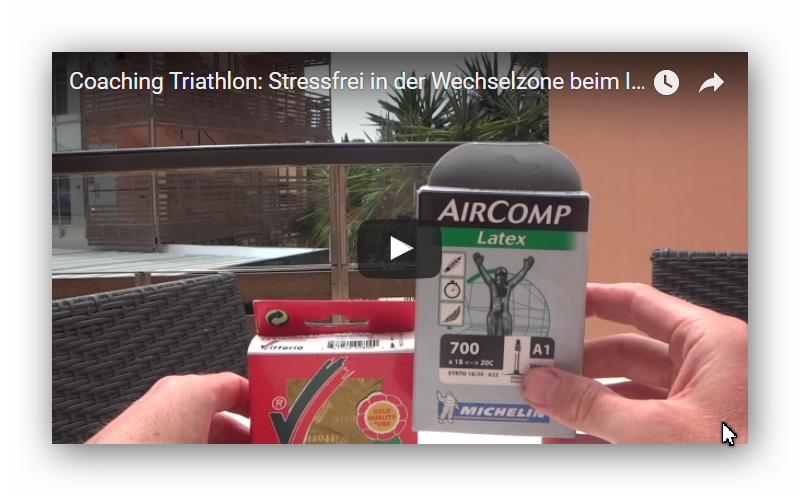 Triathlon Ironman Coaching – Tipps und Tricks- Schwalbe Michelin Vittoria Latex