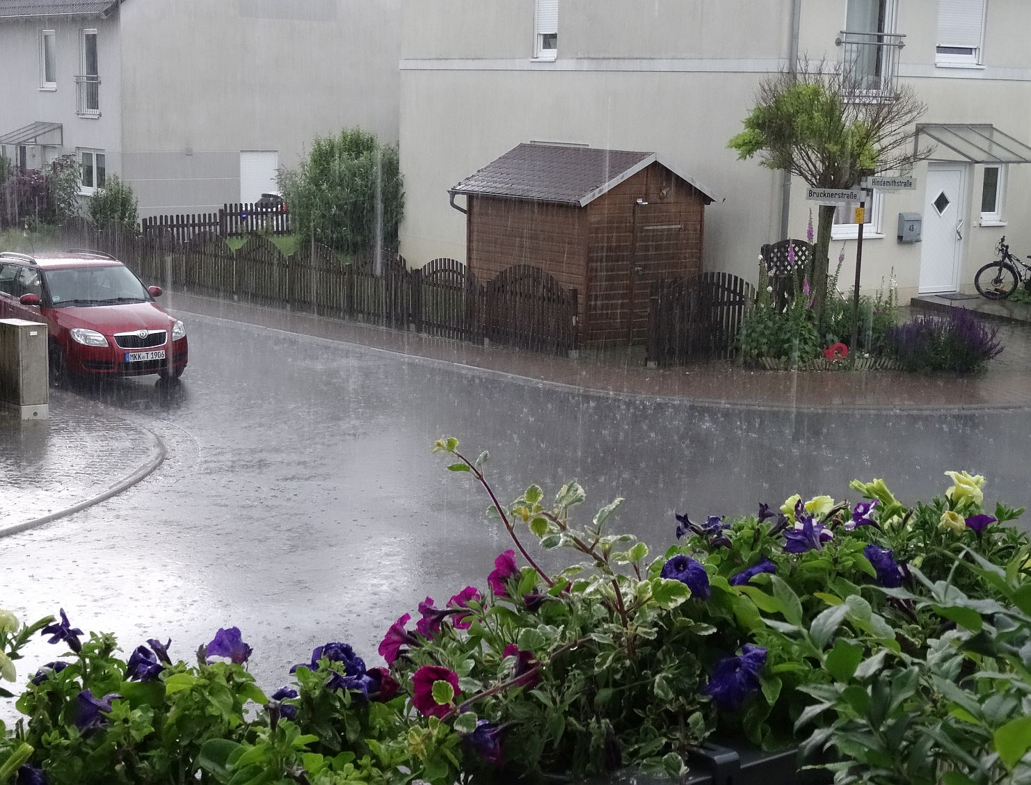 Triathlon Training in einer Regenphase