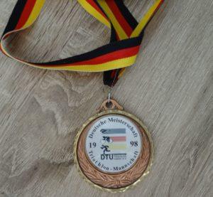 Medaille DM Langdistanz Triathlon Kulmbach 1998