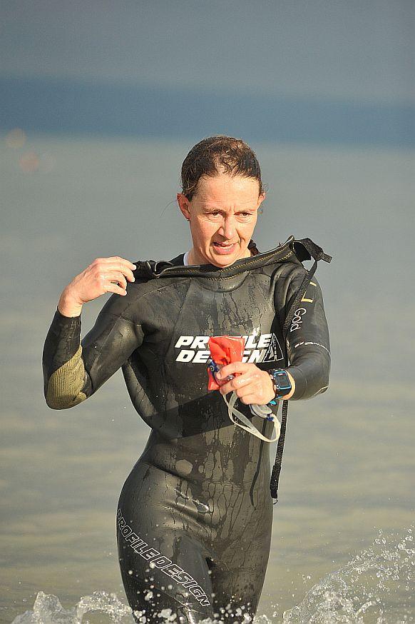 Diana Schneider Austria-Triathlon Podersdorf 2015 Schwimmen