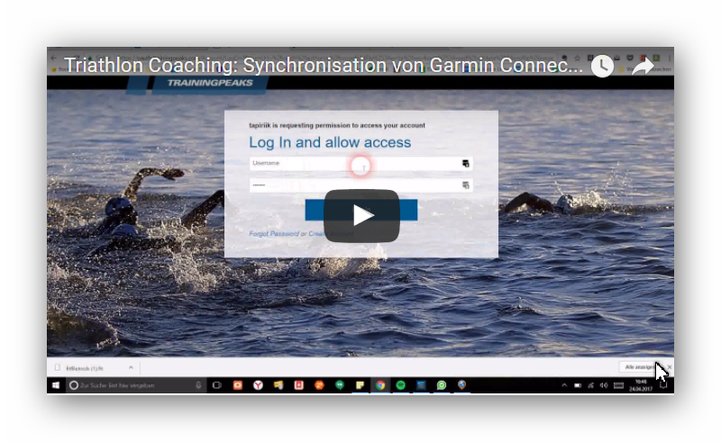Triathlon Coaching Online Trainingpeaks Garmin Connect Tapiriik Frankfurt