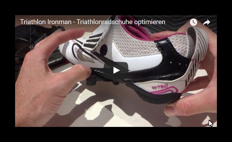 Triathlonradschuhe optimieren