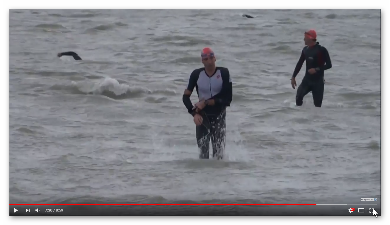 31. Int. Austria-Triathlon in Podersdorf: Impressionen von 3,8km Schwimmen im Neusiedler See